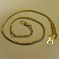 <b>Hamburger Woolen</b><br/> Gold Snake Whistle Chain with Button Hook