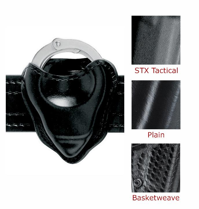 Safariland 090-18 Black Basketweave Open-Top Handcuff Cuff Case Pouch