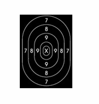 photo regarding Printable Silhouette Target identify Speedwell Mend Heart for B27 Polic Silhouette Aim