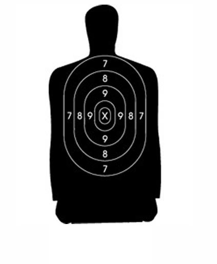 B 21 Police Shooting Targets Speedwell B27FS Police...