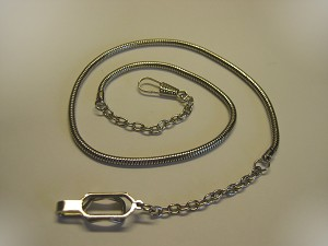 <b>Hamburger Woolen</b><br/> Nickel Snake Whistle Chain with Button Hook